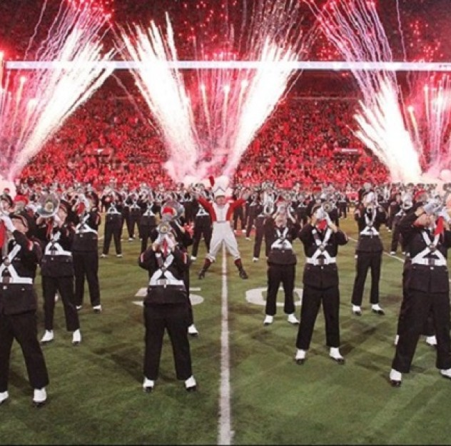 OSU Band Half-time show Fireworks  650×429