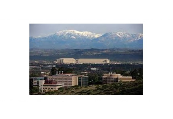 UCI  Campus with San Bernardino Mountains