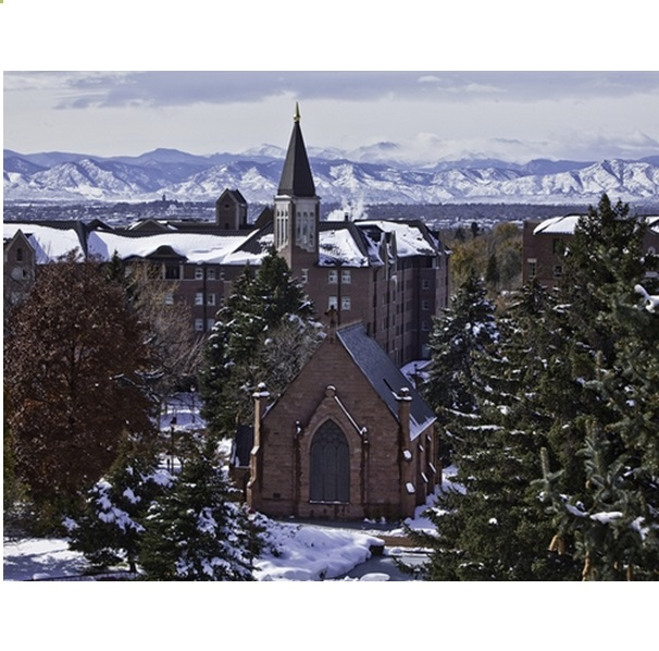 University of Denver Campus Snow